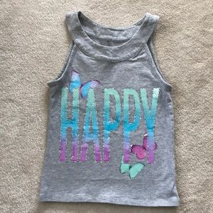 Girls sparkly Justice tank top